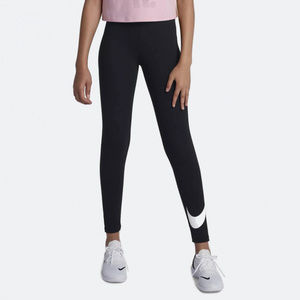 Nike Sportwear Logo Leggings Girl's Black NEW